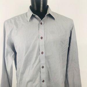 Men's UnTuckit Grey Longsleeve Shirt